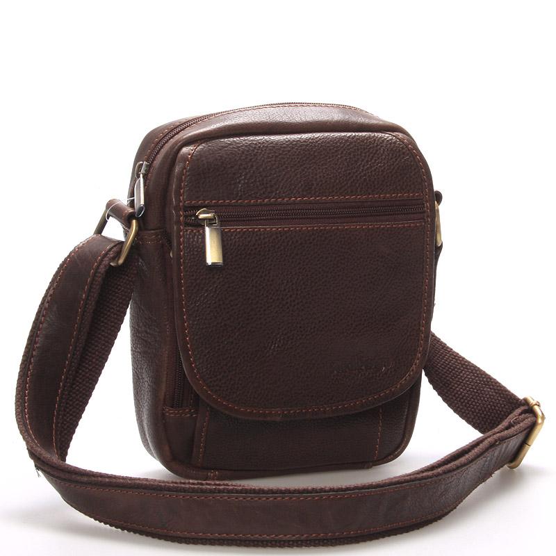 Pánská kožená taška přes rameno hnědá - SendiDesign Colyn