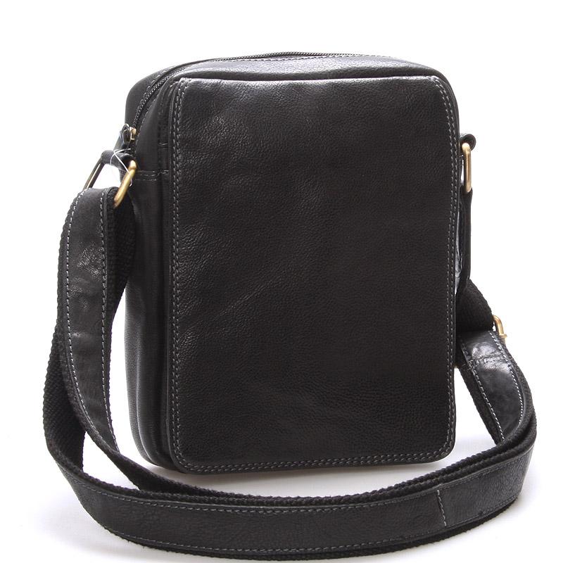 Pánská kožená taška na doklady přes rameno černá - SendiDesign Didier