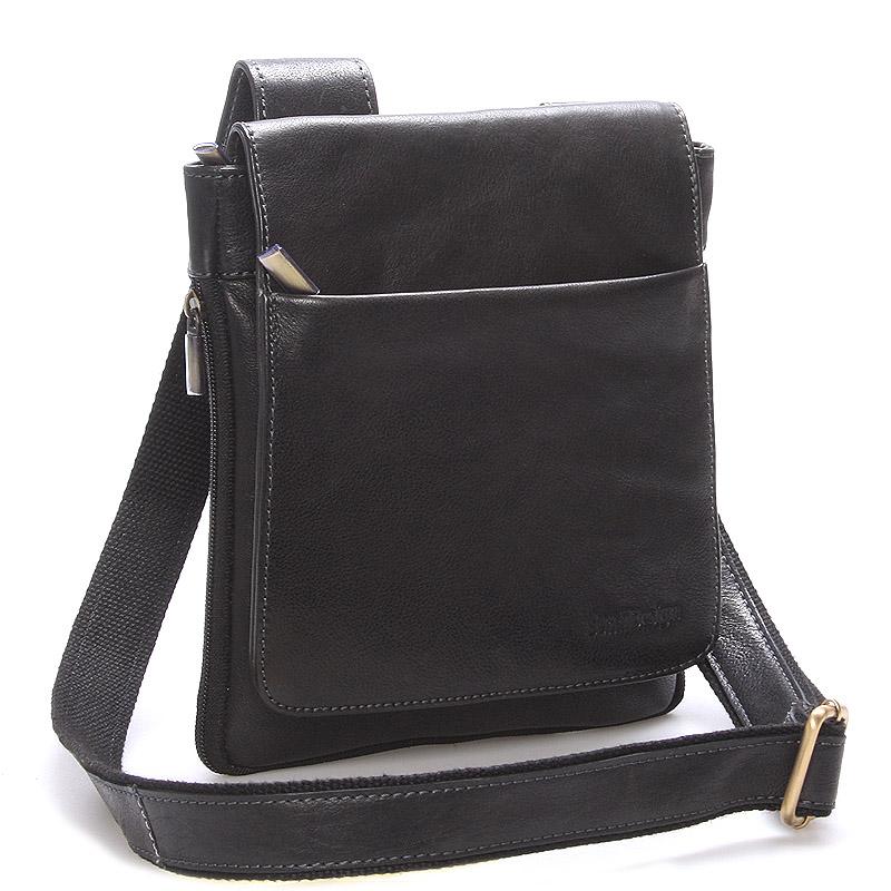 Módní pánská kožená taška přes rameno černá - SendiDesign Blayze
