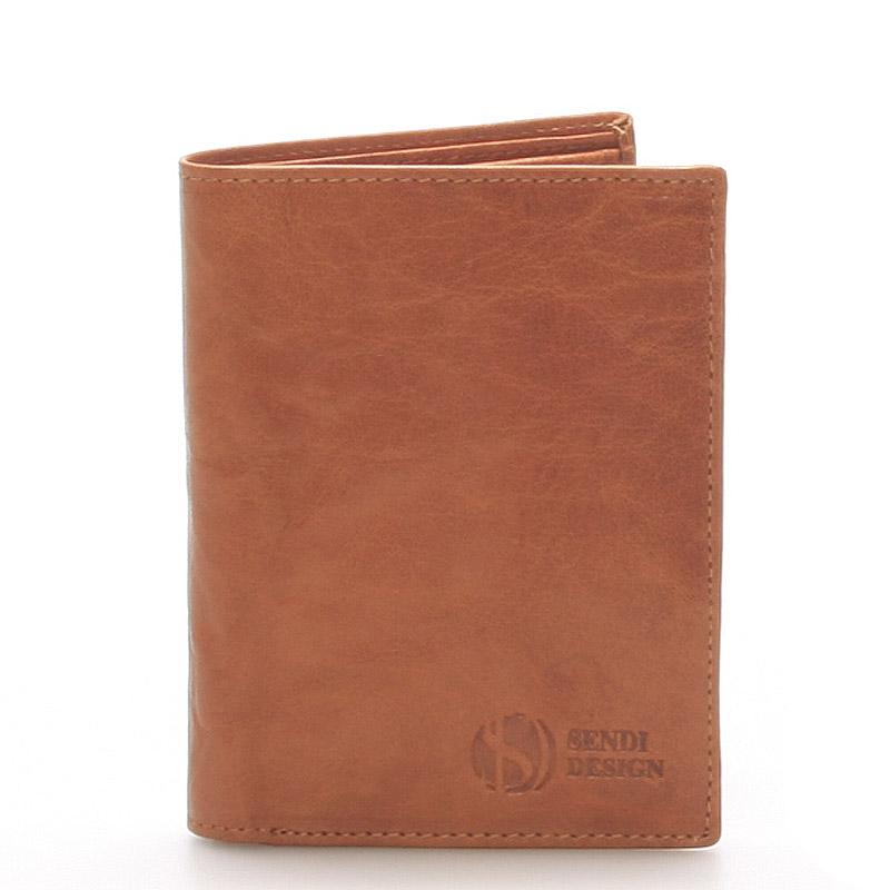 Kvalitní kožená světle hnědá peněženka - Sendi Design 45