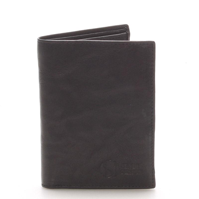 Kvalitní kožená černá peněženka - Sendi Design 45
