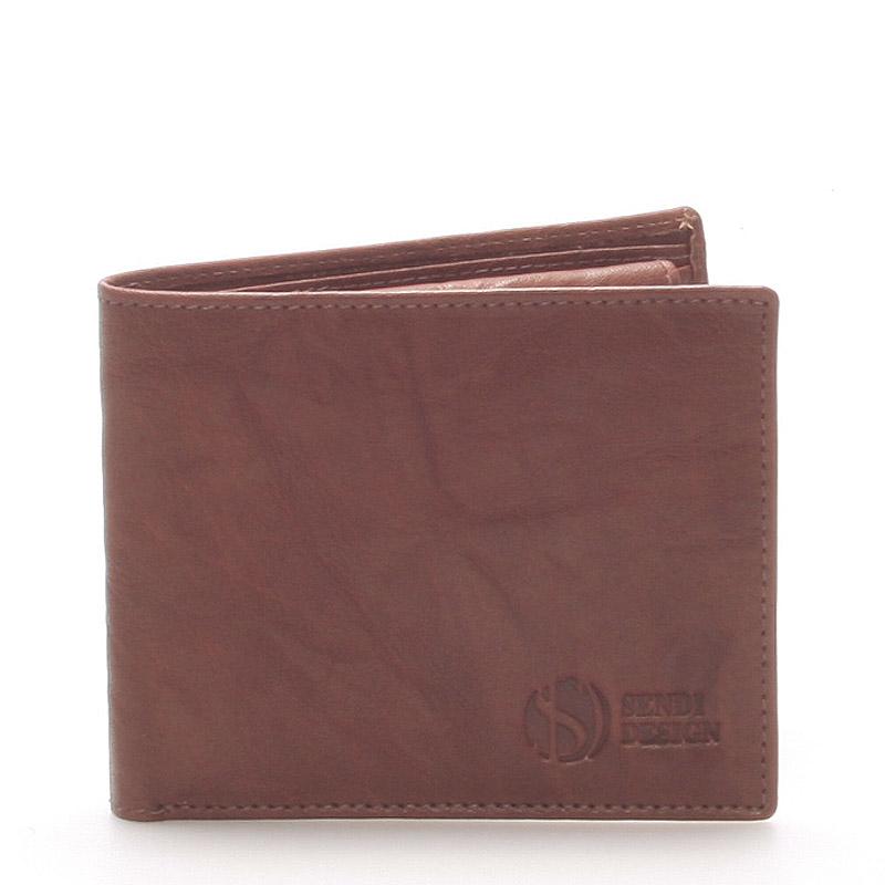 Elegantní kožená hnědá peněženka - Sendi Design 46