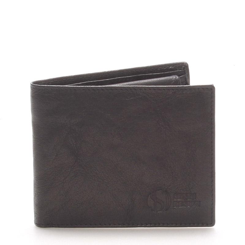Elegantní kožená černá peněženka - Sendi Design 46
