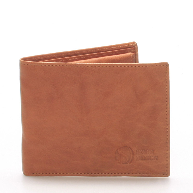 Elegantní kožená světle hnědá peněženka - Sendi Design 46