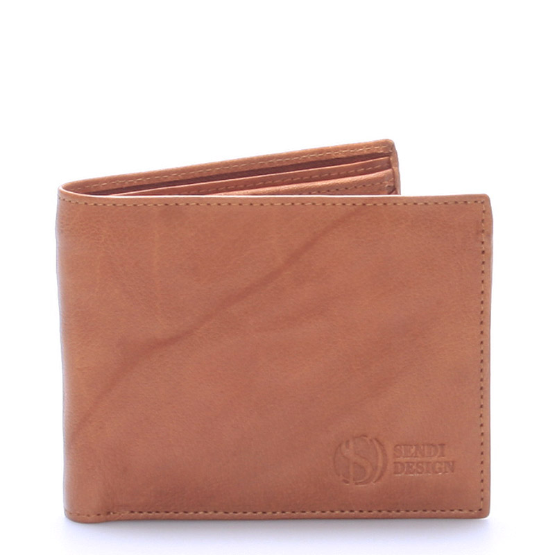 Pánská kožená peněženka světle hnědá - Sendi Design 56