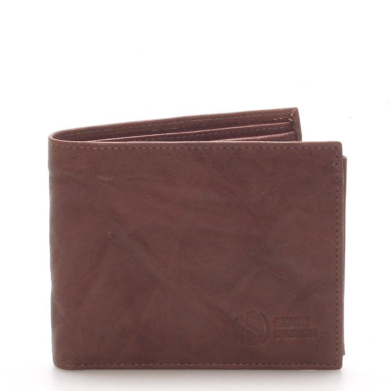 Pánská kožená peněženka hnědá - Sendi Design 56