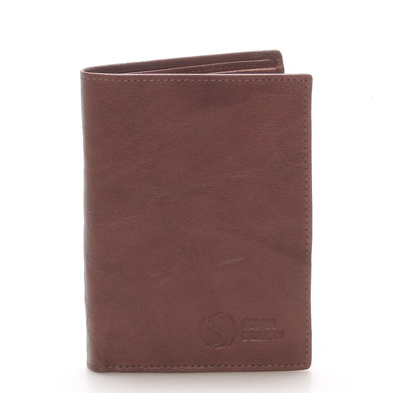 Kvalitní kožená hnědá peněženka - Sendi Design 45