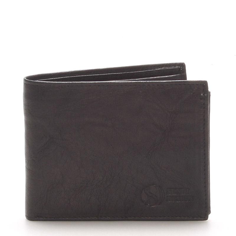 Pánská kožená peněženka černá - Sendi Design 56