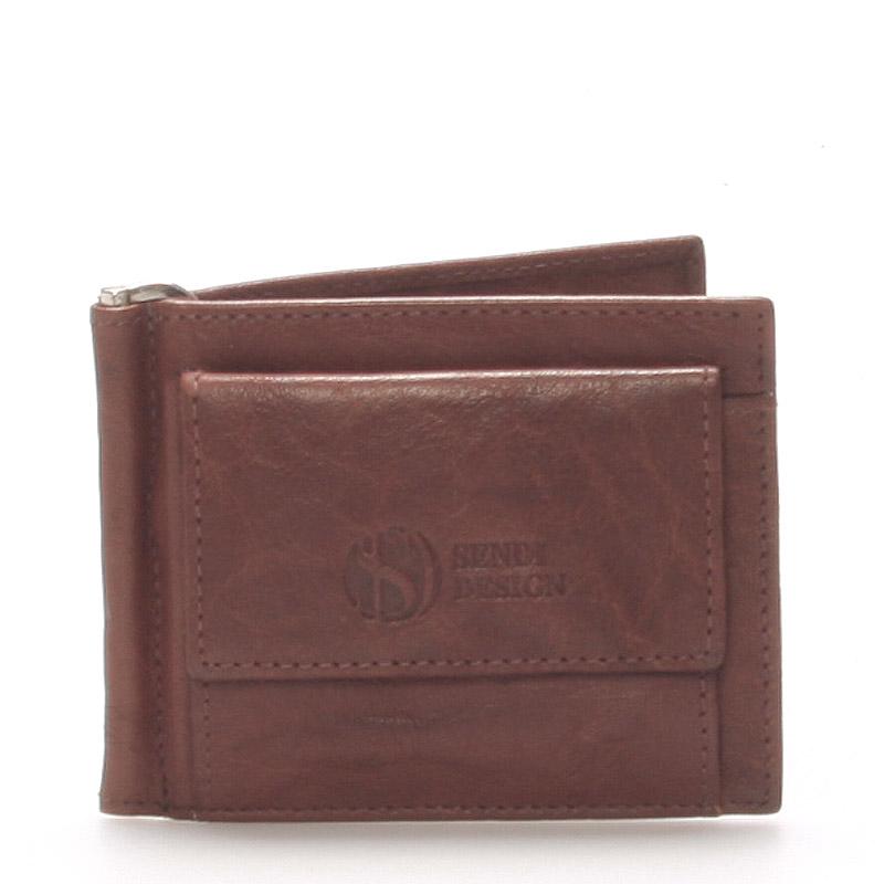 Pánská kožená dolarovka hnědá - Sendi Design 57