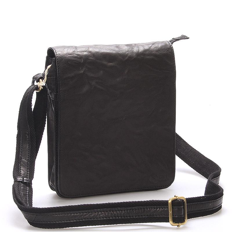 Kvalitní černá kožená brašna - Sendi Design Chaime