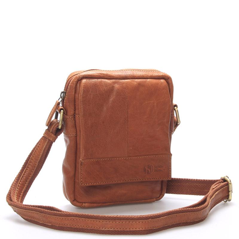 Stylová kožená taška světle hnědá - Sendi Design Perth