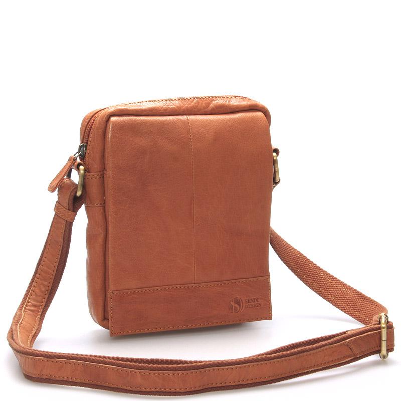 Stylová kožená taška světle hnědá - Sendi Design Perthos
