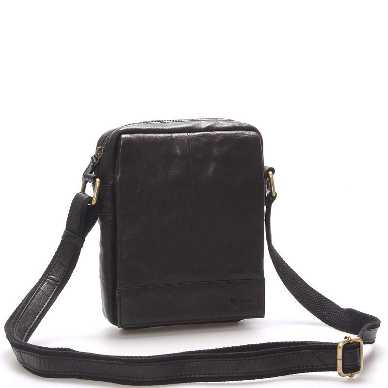 Stylová kožená taška černá - Sendi Design Perthos