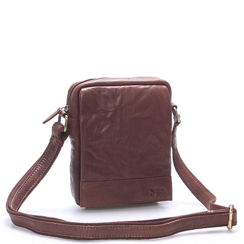 Stylová kožená taška hnědá - Sendi Design Perthos