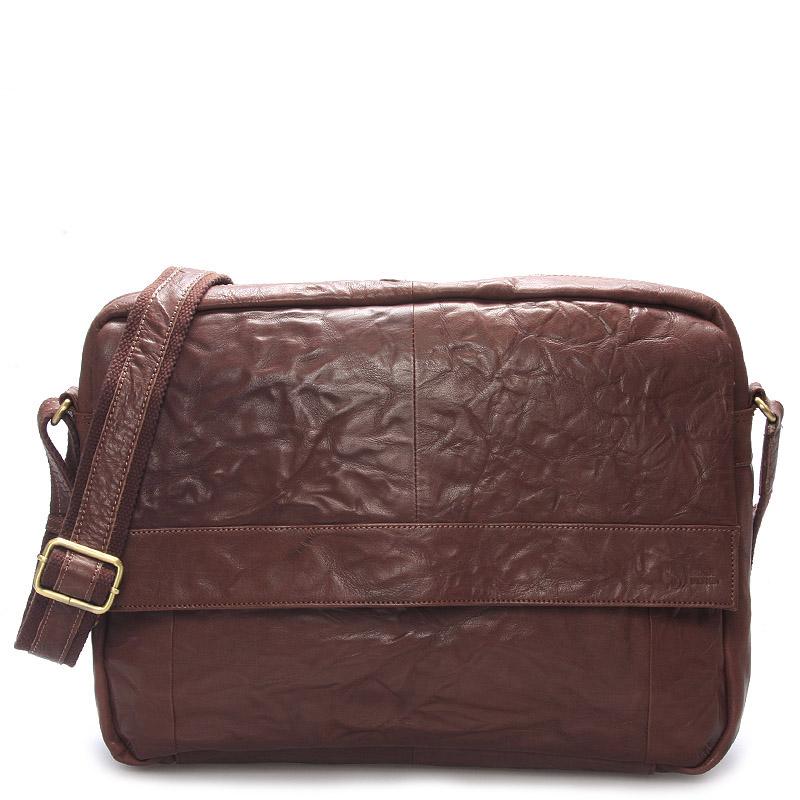Velká luxusní pánská kožená taška hnědá - Sendi Design Nethard