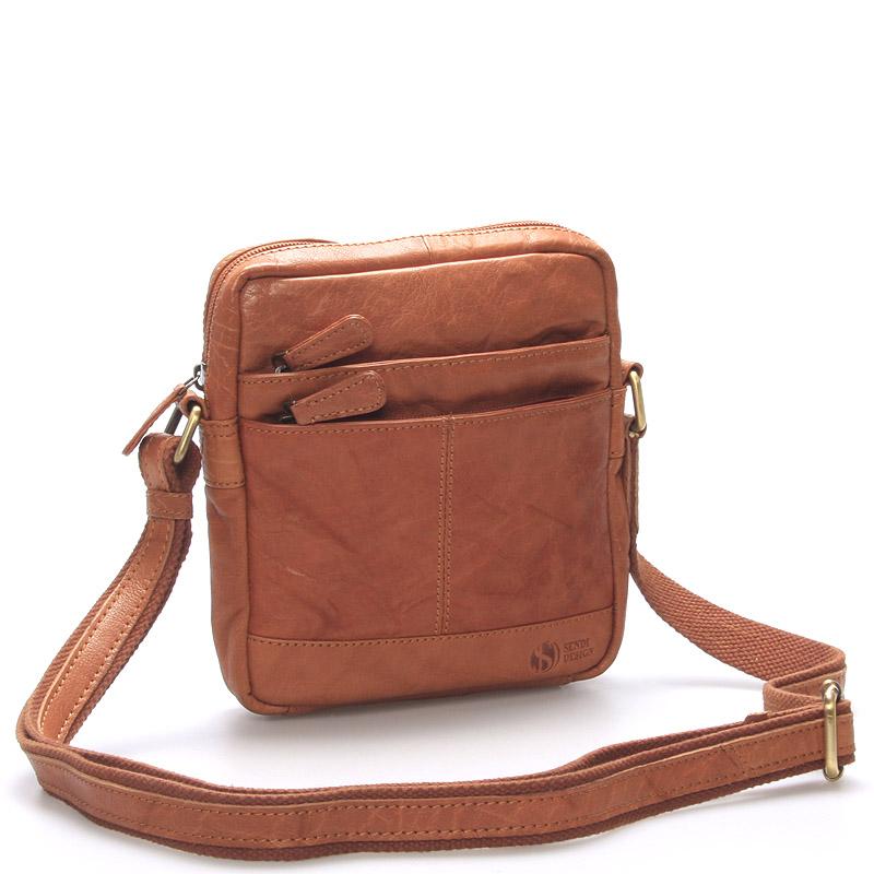 Módní kožená taška světle hnědá - Sendi Design Flinderse