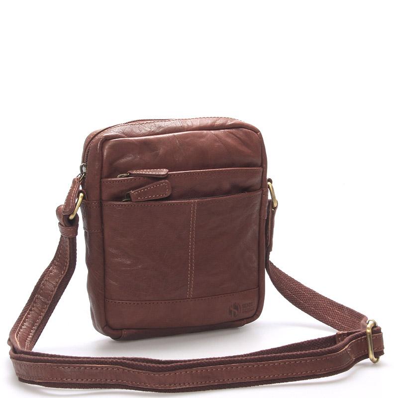 Módní kožená taška hnědá - Sendi Design Flinderse