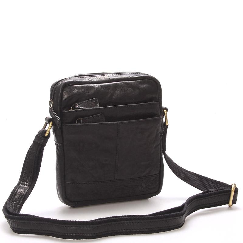 Módní kožená taška černá - Sendi Design Flinderse