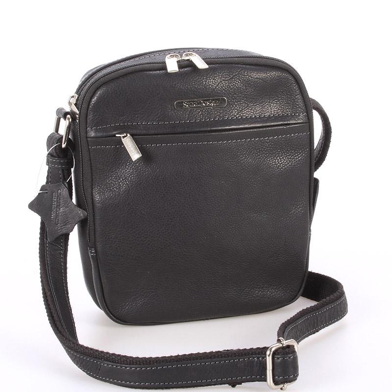 Černá pánská stylová kožená taška - Sendi Design Heracles