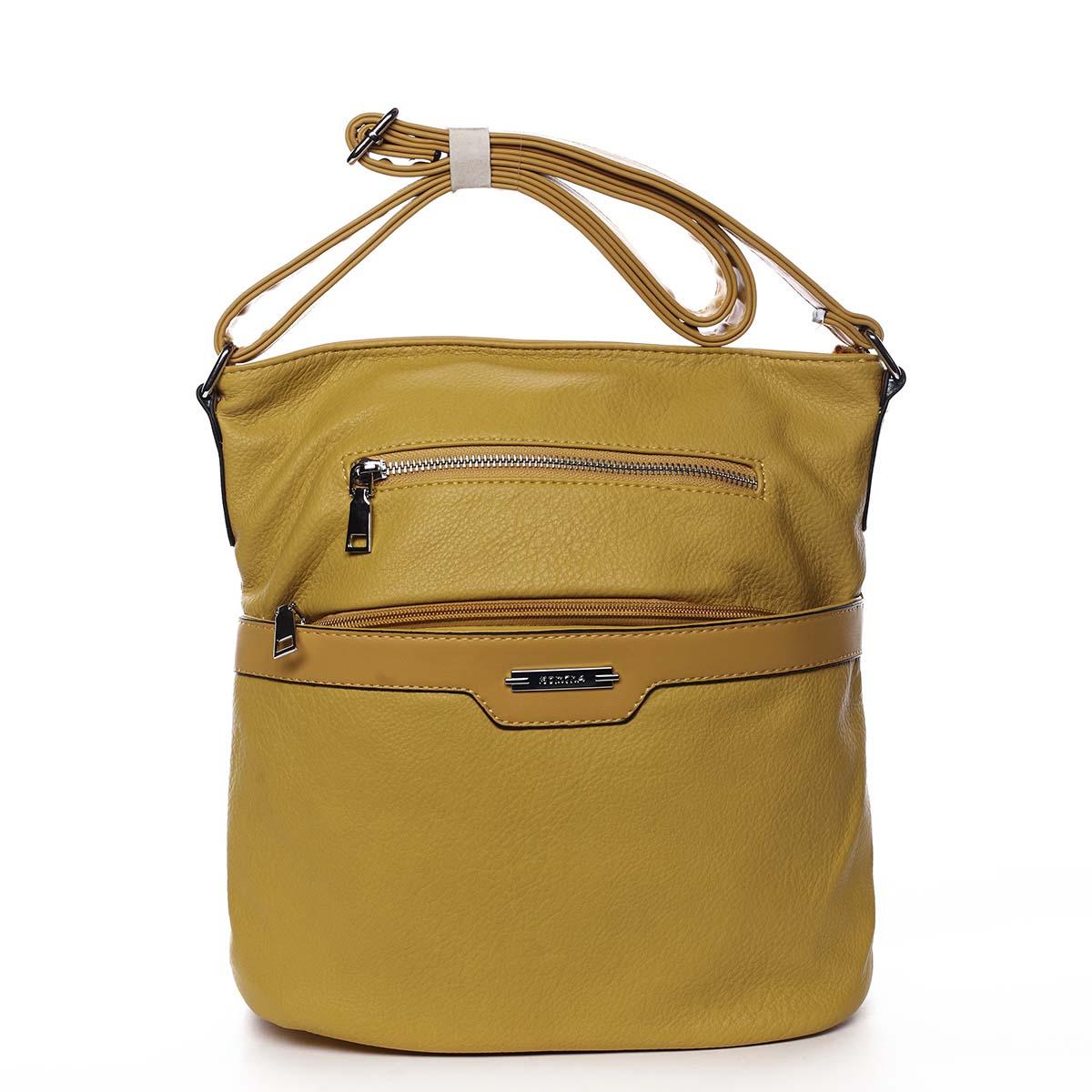 Dámská crossbody kabelka žlutá - Romina Elmina
