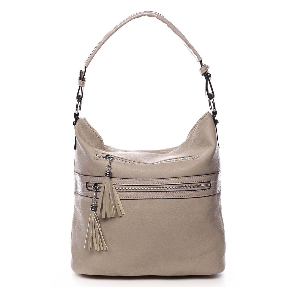 Dámská kabelka přes rameno tmavě béžová - Romina Becca