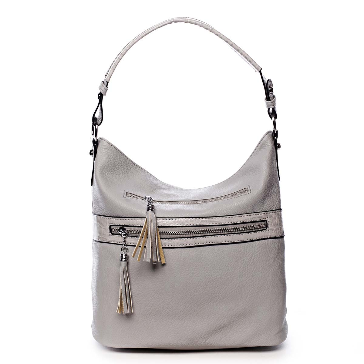Dámská kabelka přes rameno světle šedá - Romina Becca