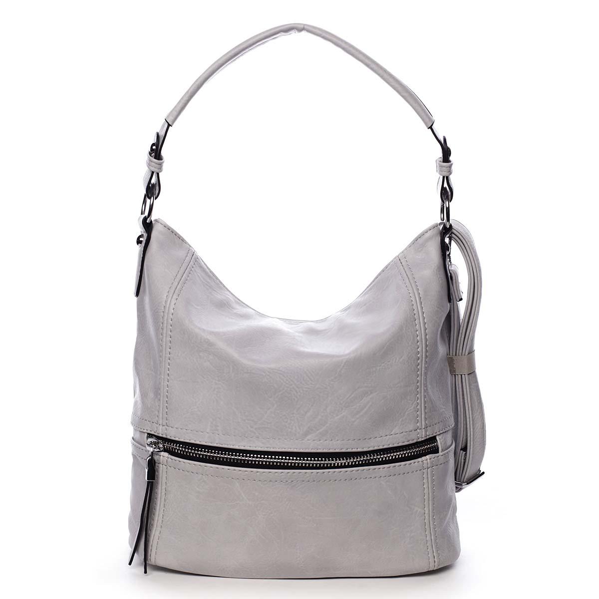 Dámská kabelka přes rameno světle šedá - Romina Fetall