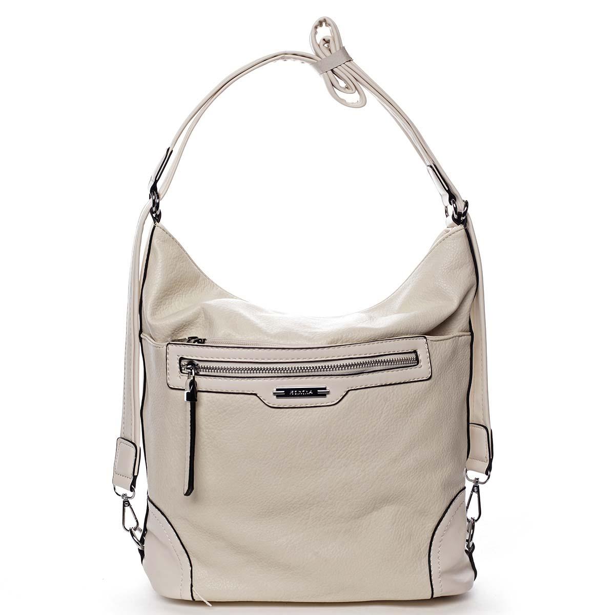 Dámská kabelka batoh světle béžová - Romina Zilla