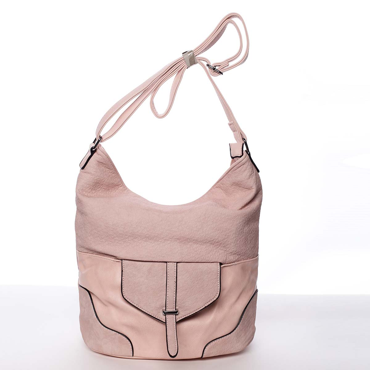 Elegantní dámská kabelka přes rameno růžová - Silvia Rosa Yahaira