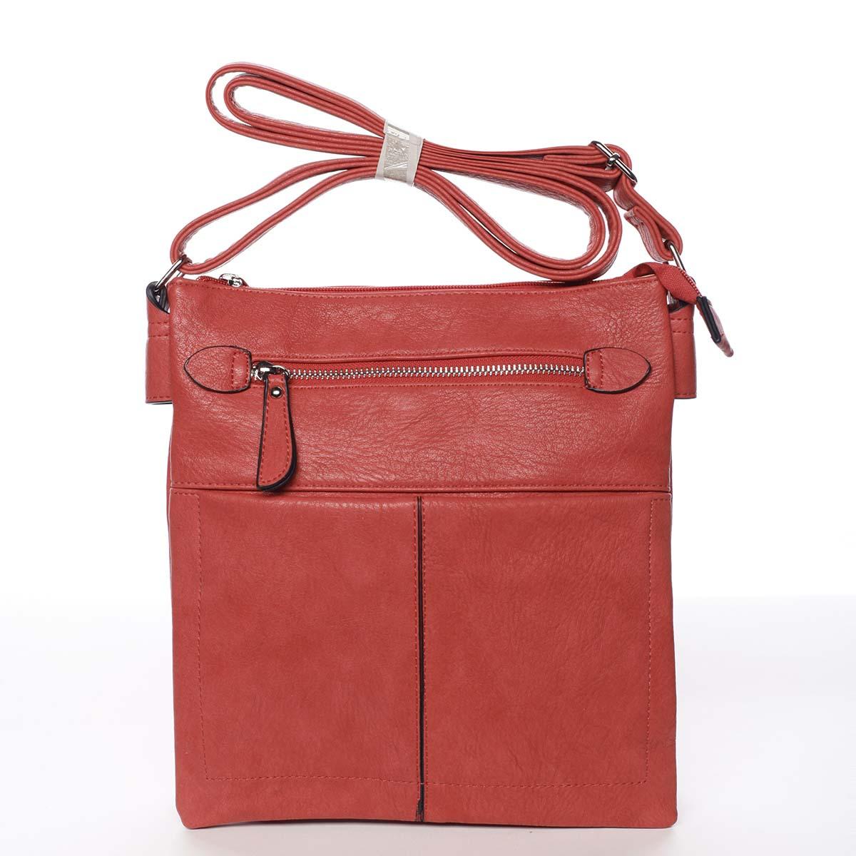 Dámská červená moderní a elegantní crossbody kabelka - Dudlin Ketty