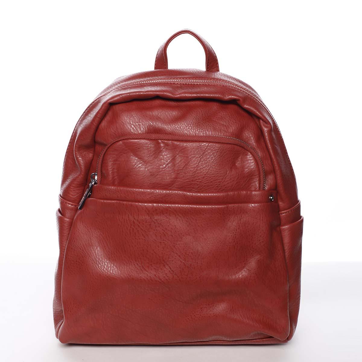 Střední městský dámský červený batoh - Silvia Rosa Jimm
