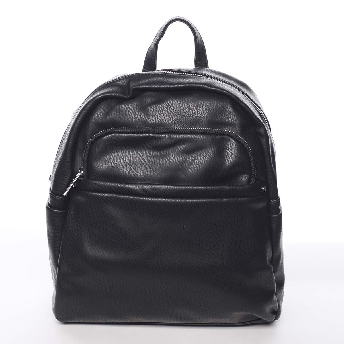 Střední městský dámský černý batoh - Silvia Rosa Jimm