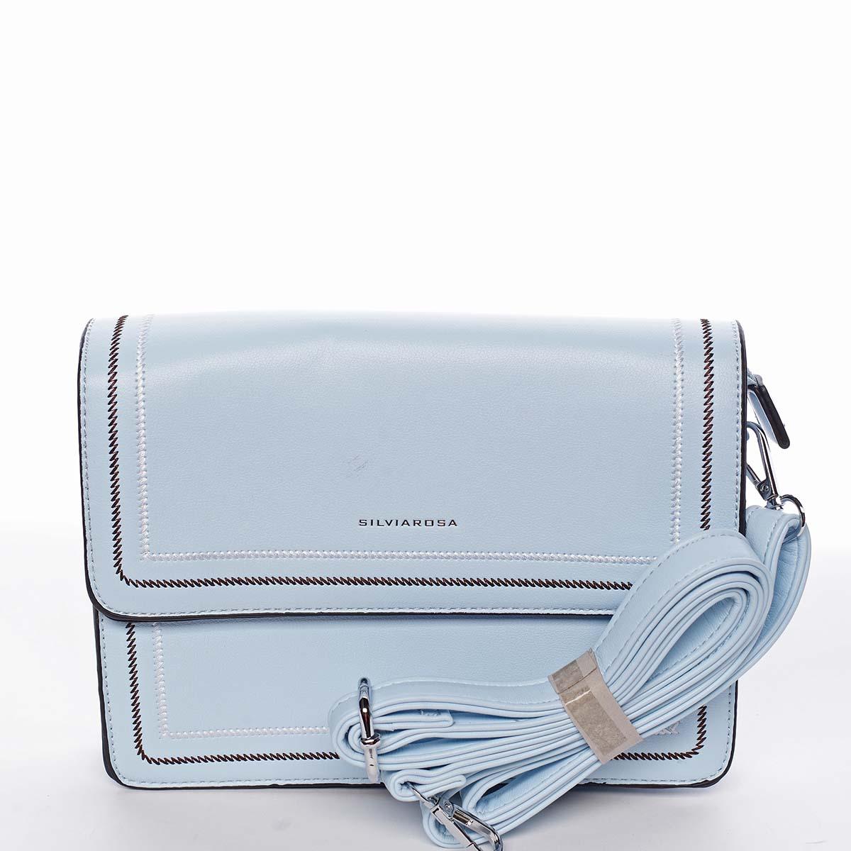 Originální elegantní crossbody kabelka nebesky modrá - Silvia Rosa Cielo