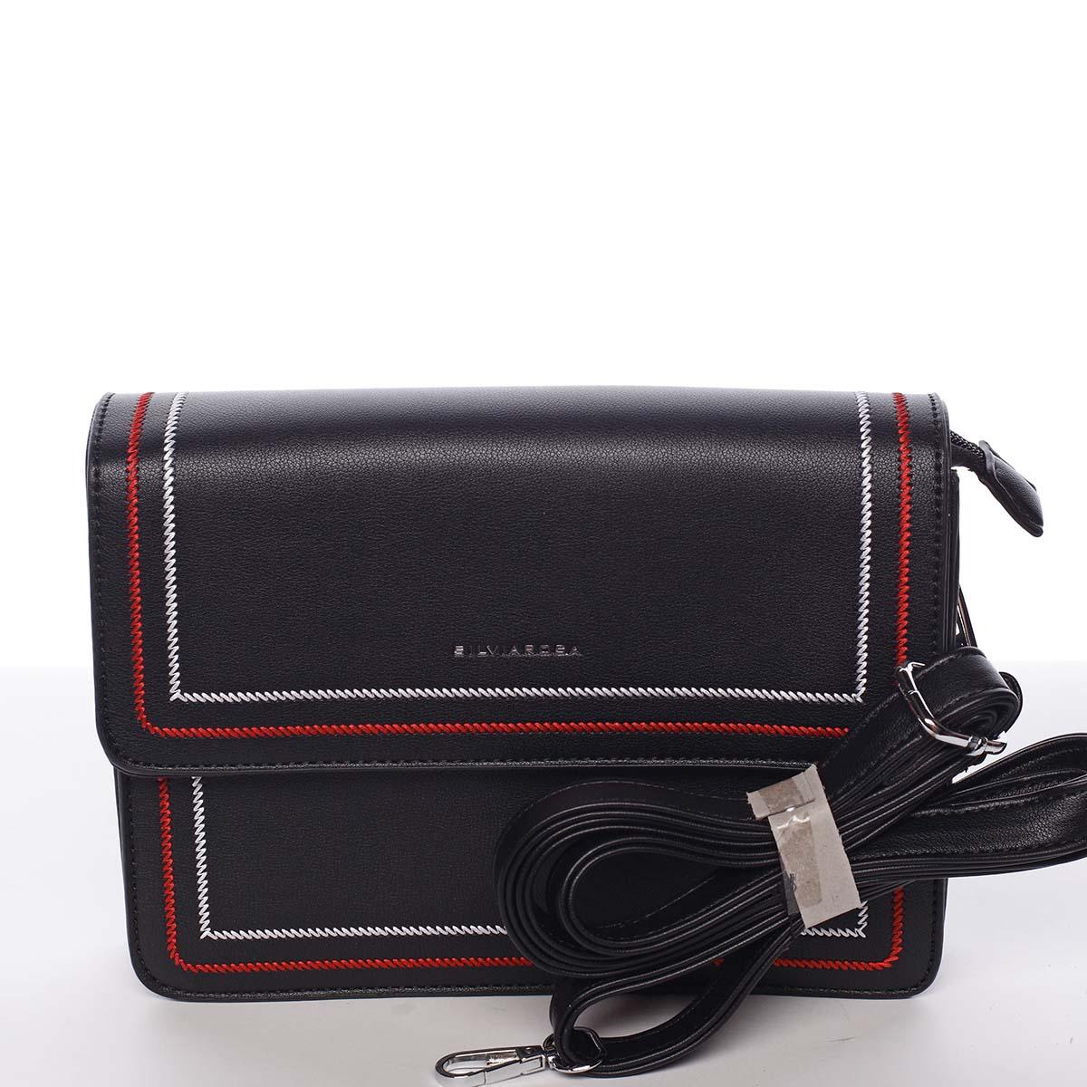 Originální elegantní crossbody kabelka černá - Silvia Rosa Cielo