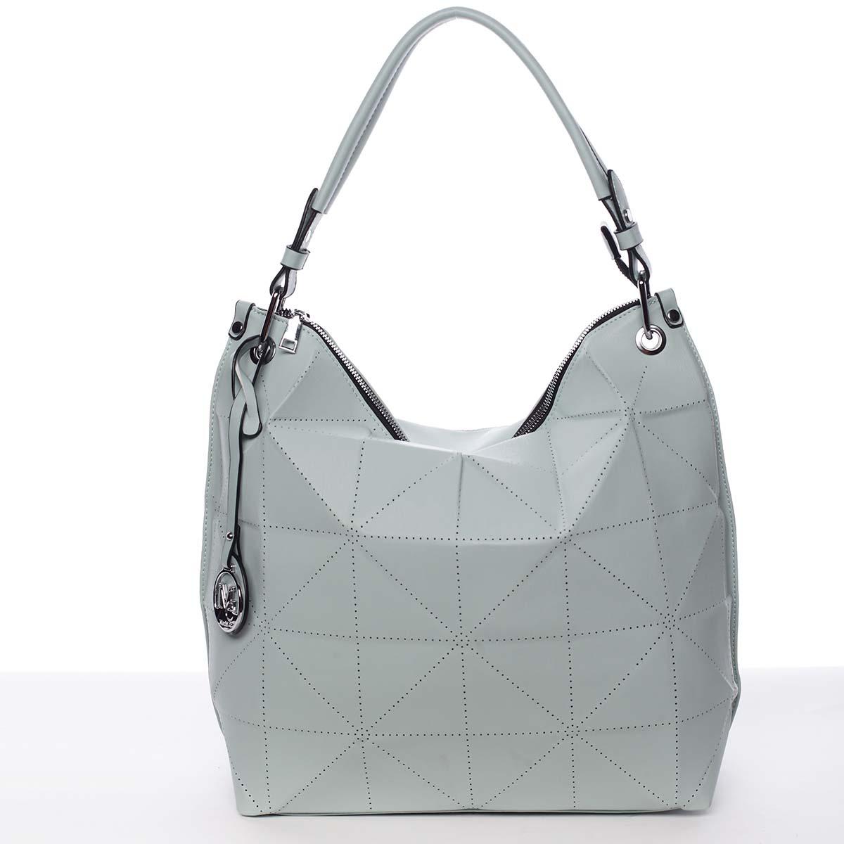 Velká mentolově zelená luxusní dámská kabelka přes rameno - MARIA C Samira