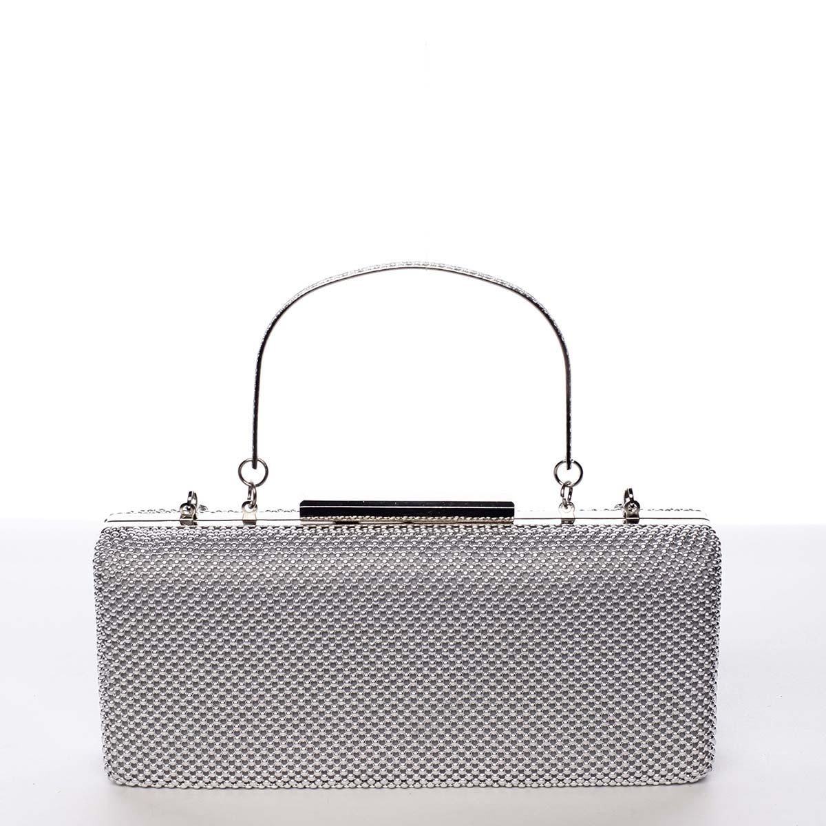 Módní dámské perleťové psaníčko stříbrné - Michelle Moon V8200
