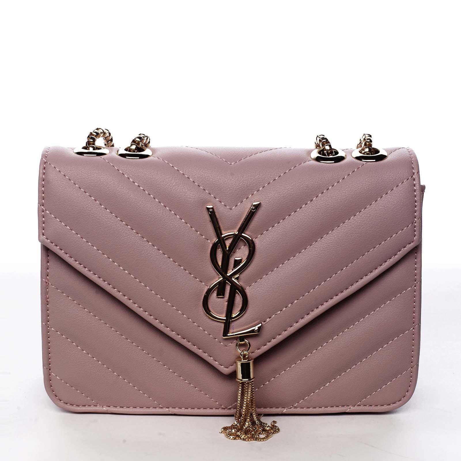 Dámská crossbody kabelka růžová - Silvia Rosa Eighteen