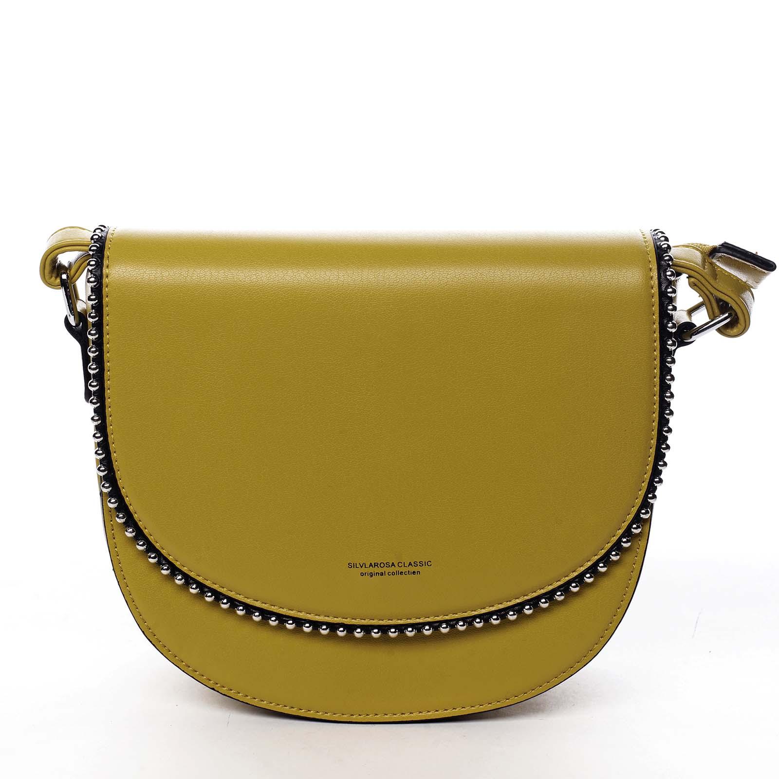 Dámská crossbody kabelka žlutá - Silvia Rosa Evolve