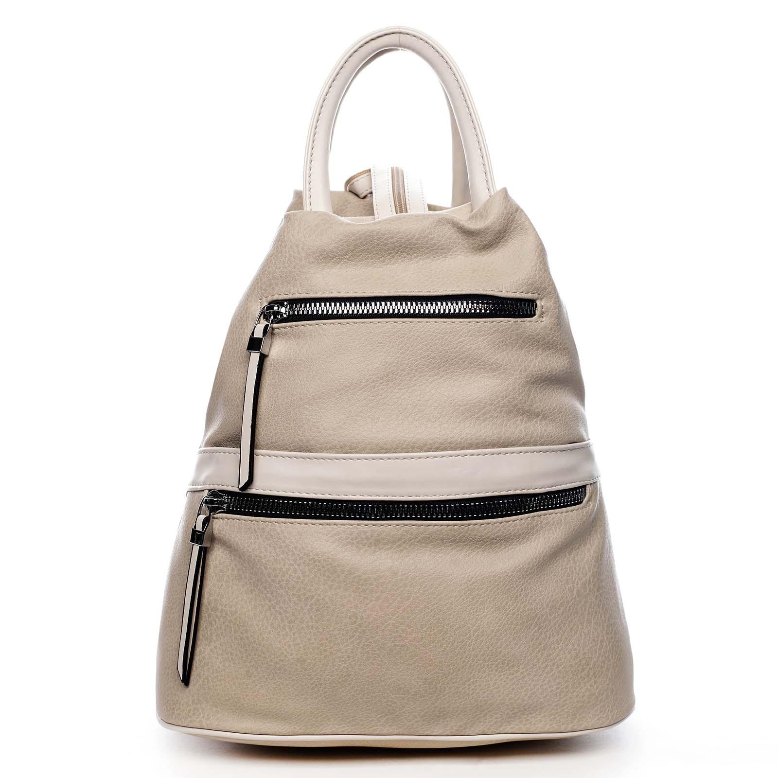 Originální dámský batoh kabelka béžový - Romina Gempela