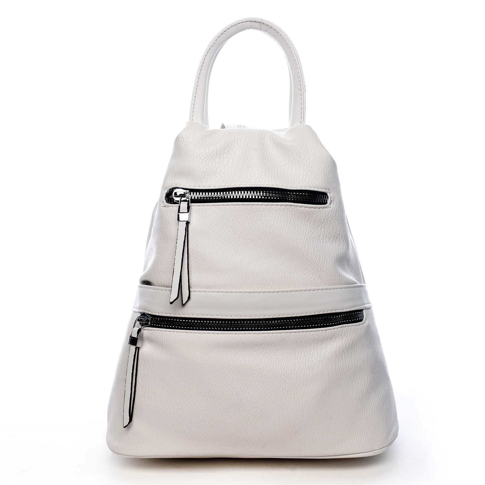 Originální dámský batoh kabelka bílý - Romina Gempela