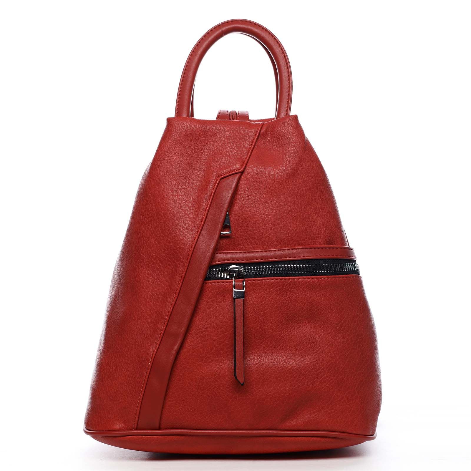 Originální dámský batoh kabelka červený - Romina Imvelaphi
