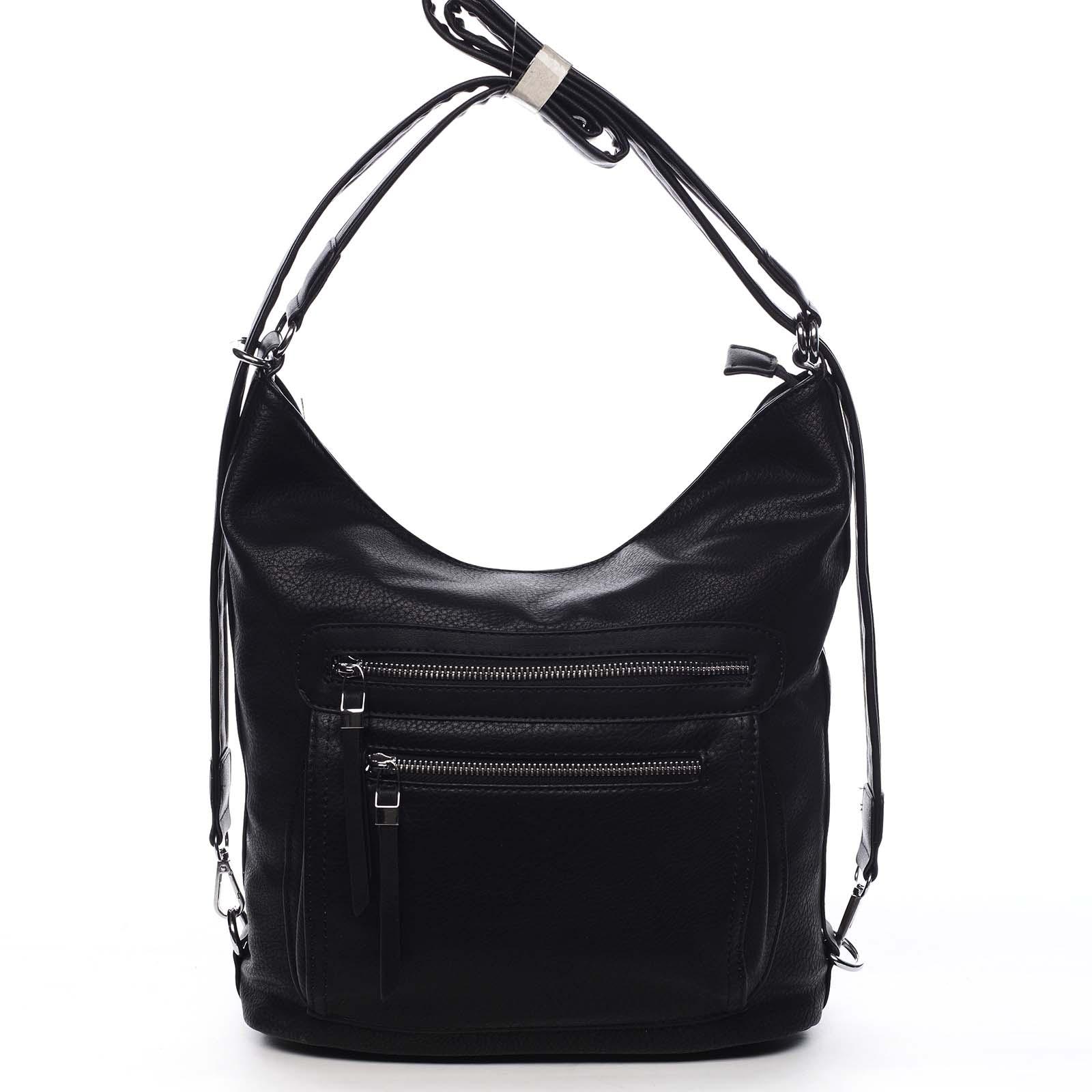 Dámská kabelka batoh černá - Romina Jaylyn