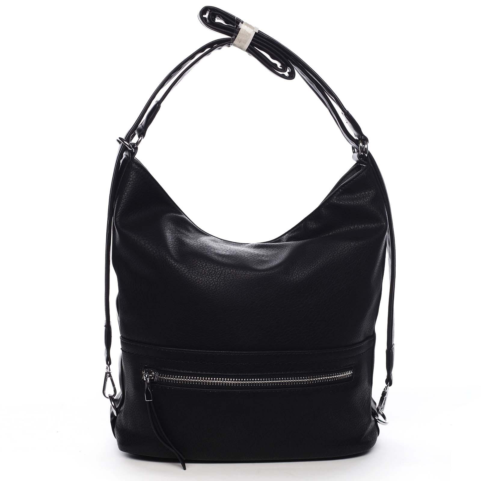 Dámská kabelka batoh černá - Romina Nikka