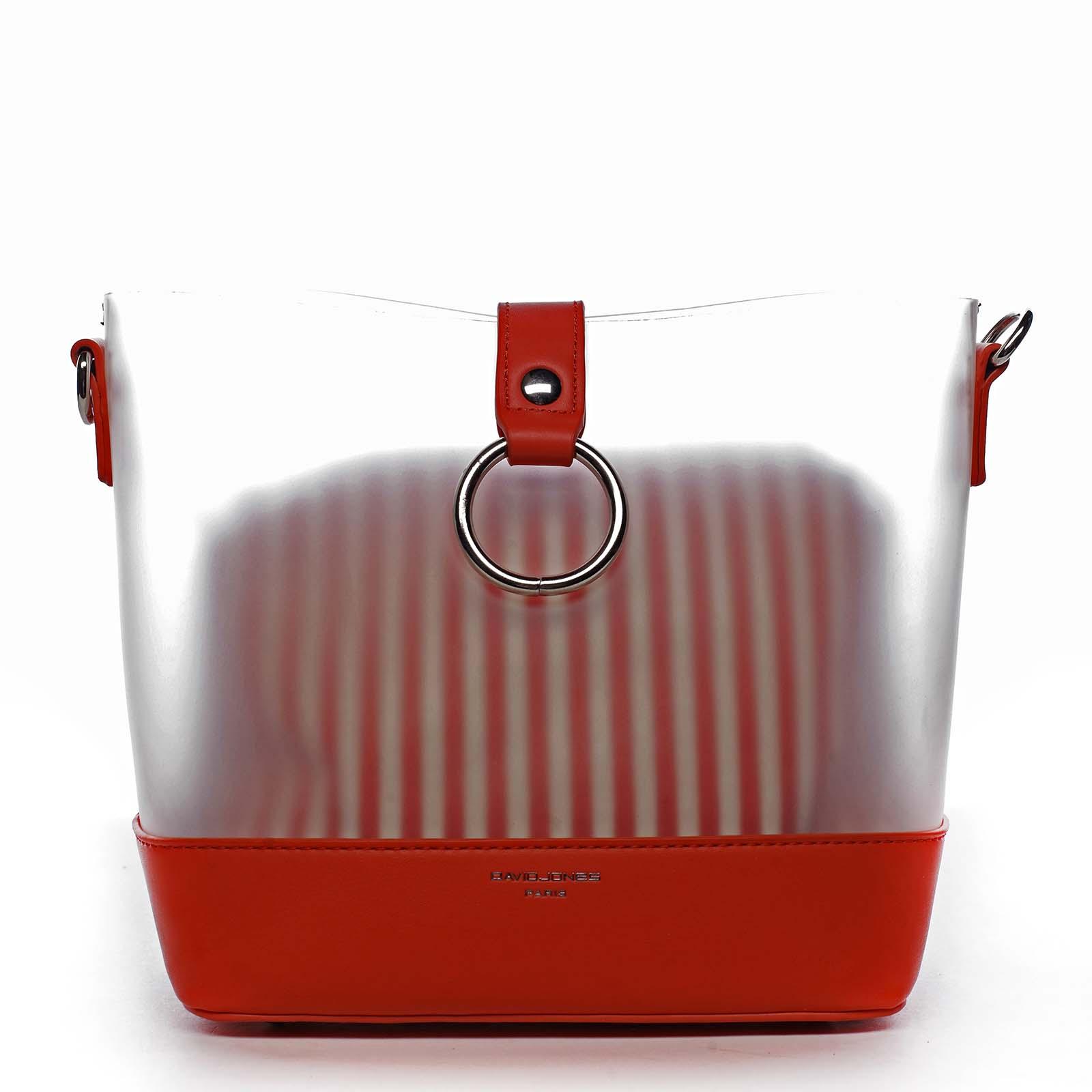 Originální dámská crossbody kabelka červená - David Jones Crazy