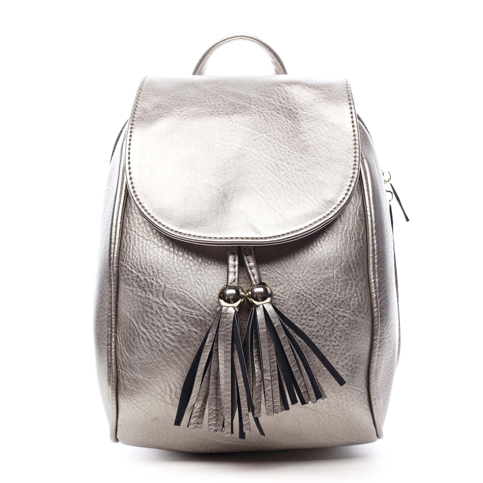 Dámský batůžek stříbrný - Silvia Rosa Roseph