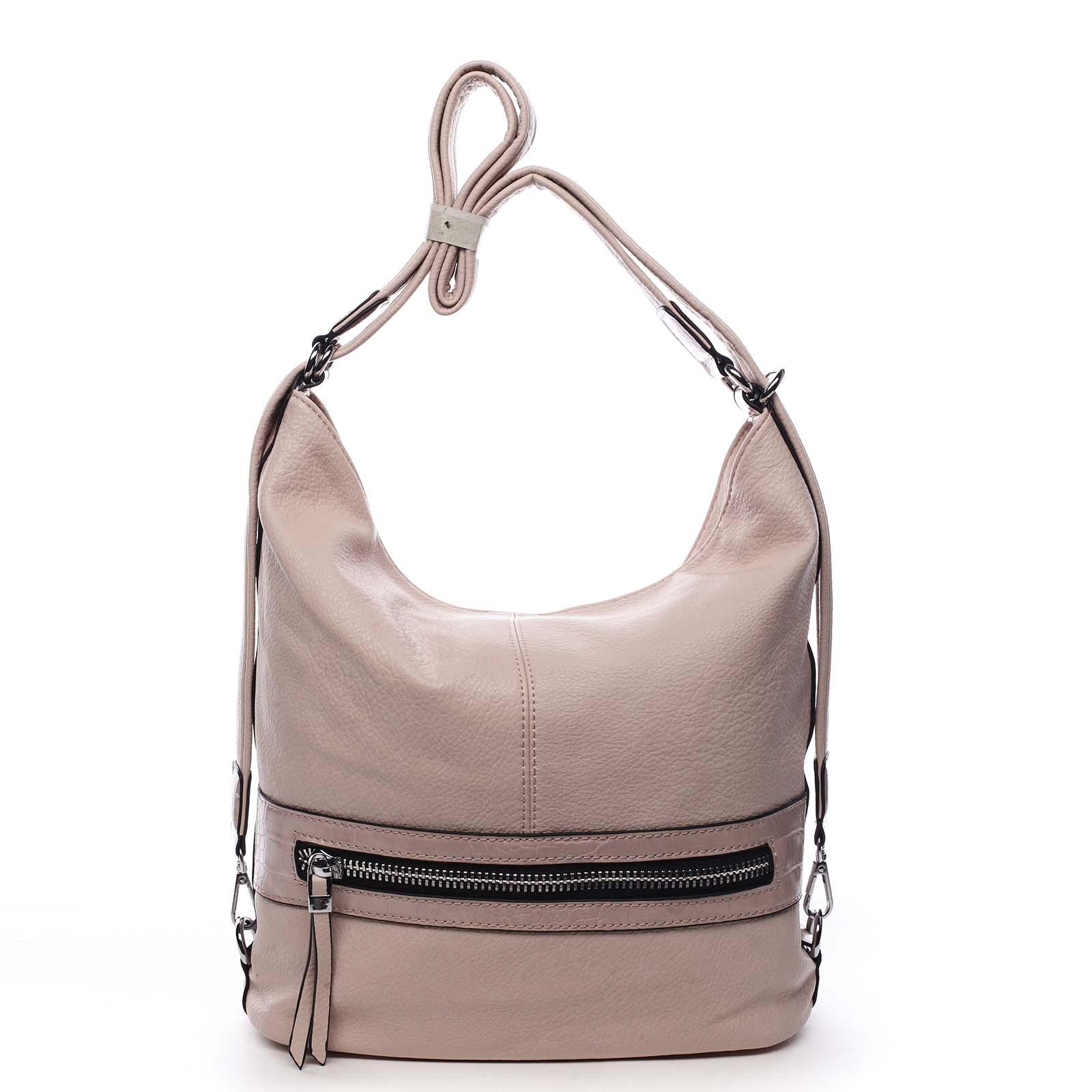Dámská kabelka batoh světle růžová - Romina Lazy