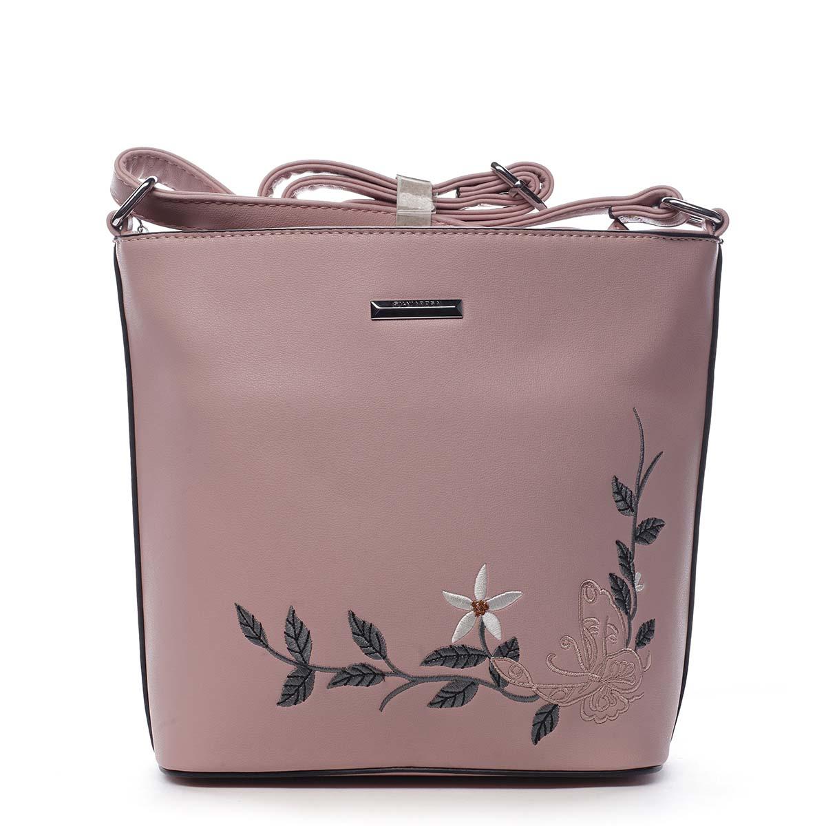 Dámská crossbody kabelka růžová - Silvia Rosa Believa
