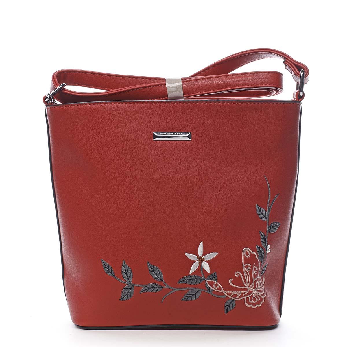 Dámská crossbody kabelka červená - Silvia Rosa Believa