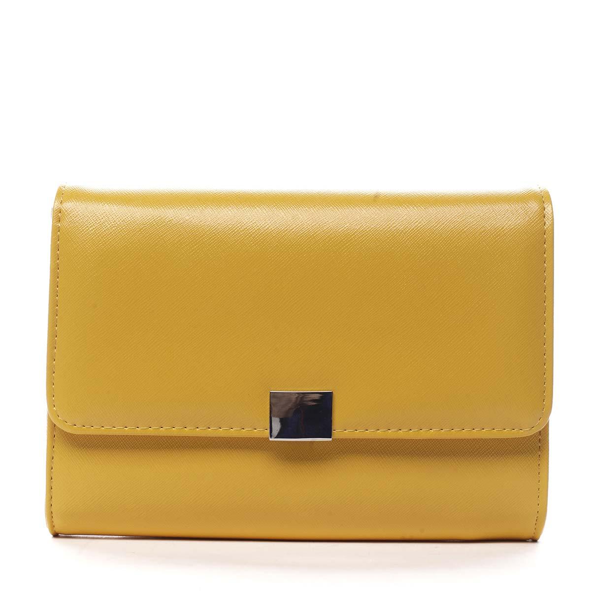 Dámské psaníčko žluté saffiano - Michelle Moon F900