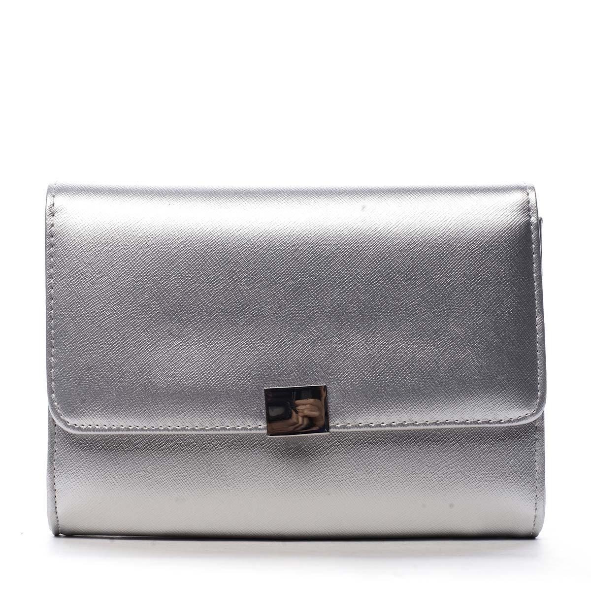 Dámské psaníčko stříbrné saffiano - Michelle Moon F900
